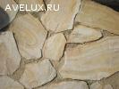 Камень Бело-жёлтый с разводами природный натуральный песчани
