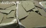 Камень природный серо-зеленый песчаник натуральный пластушка